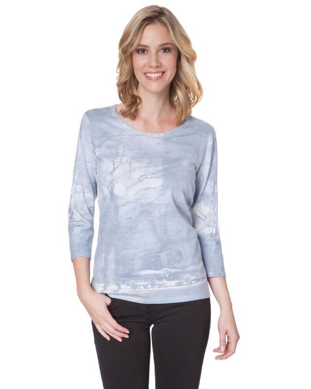 Пуловер, р. 58, цвет серый