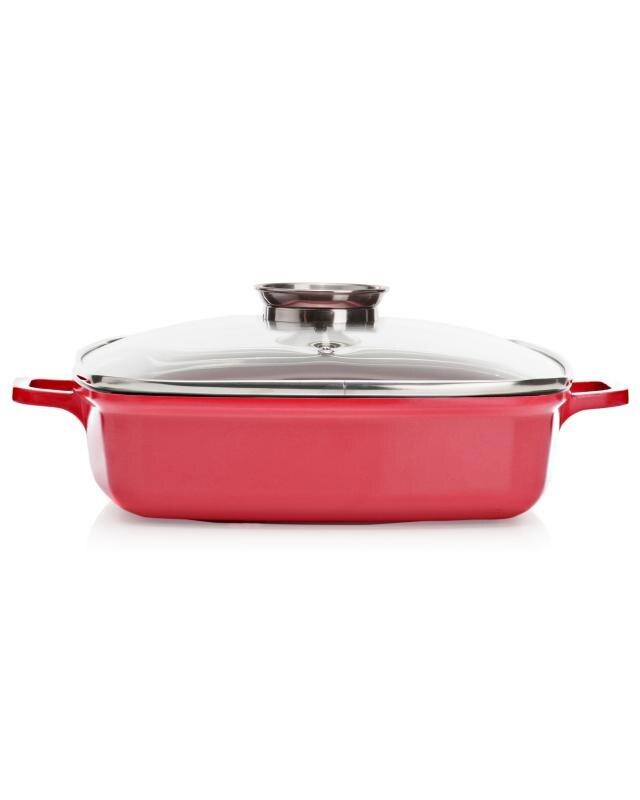 Сковорода 28 х 28 см + прихватки 4Cook квадратная фото
