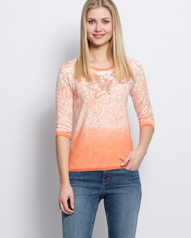 Пуловер, р. 56, цвет коралловый
