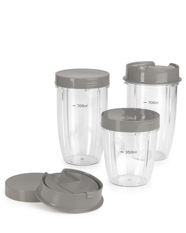 контейнеры Контейнеры-стаканы 3 шт. с крышками 5 шт. GOURMETmaxx 0,35 л - 0, 7 л, пластик