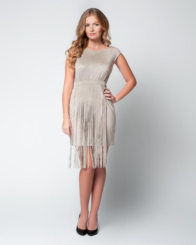 Платье, р. 56, цвет ореховый