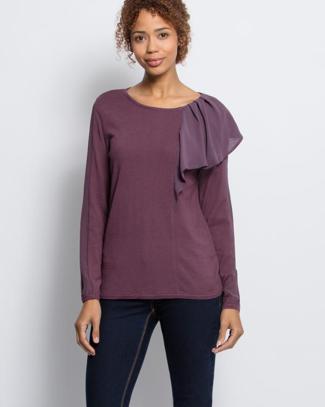 Пуловер, р. 56, цвет сиреневый