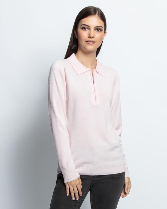Пуловер, р. 60, цвет розовый