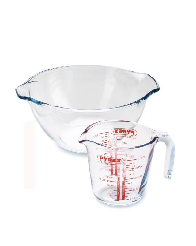 Миска 2,5 л и мерная чаша 0,5 л Pyrex фото