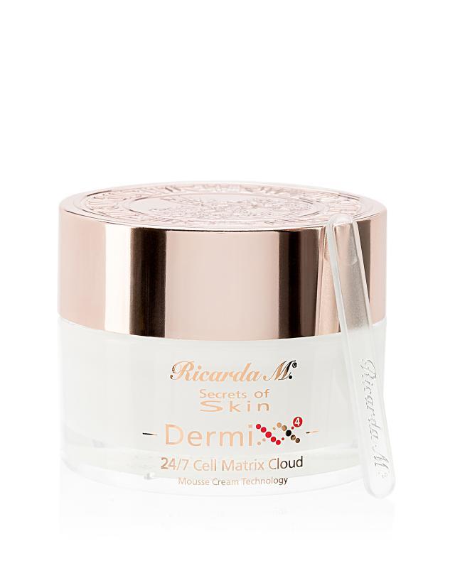 Крем-мусс для кожи лица, шеи и декольте с растительными клеточными экстрактами и витаминами 200 мл Secrets of Skin Dermixx 4 Ricarda M. 24/7 Cell Matrix Cloud