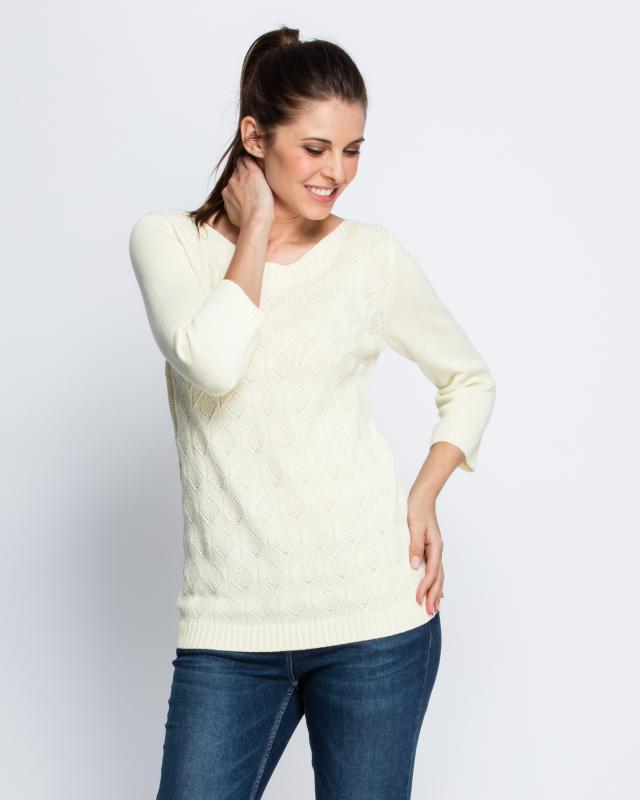 Пуловер, р. 58, цвет ваниль