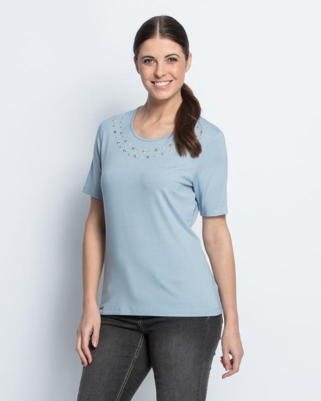 Блуза, р. 48, цвет голубой