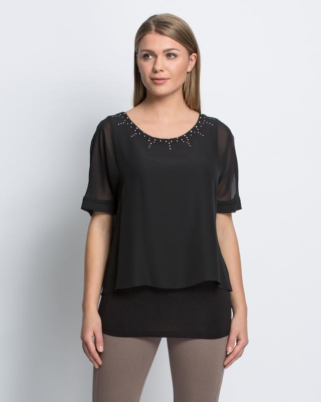 Блуза, р. 46, цвет черный