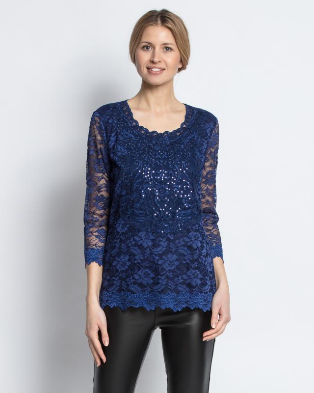 Блуза, р. 46, цвет темно-синий