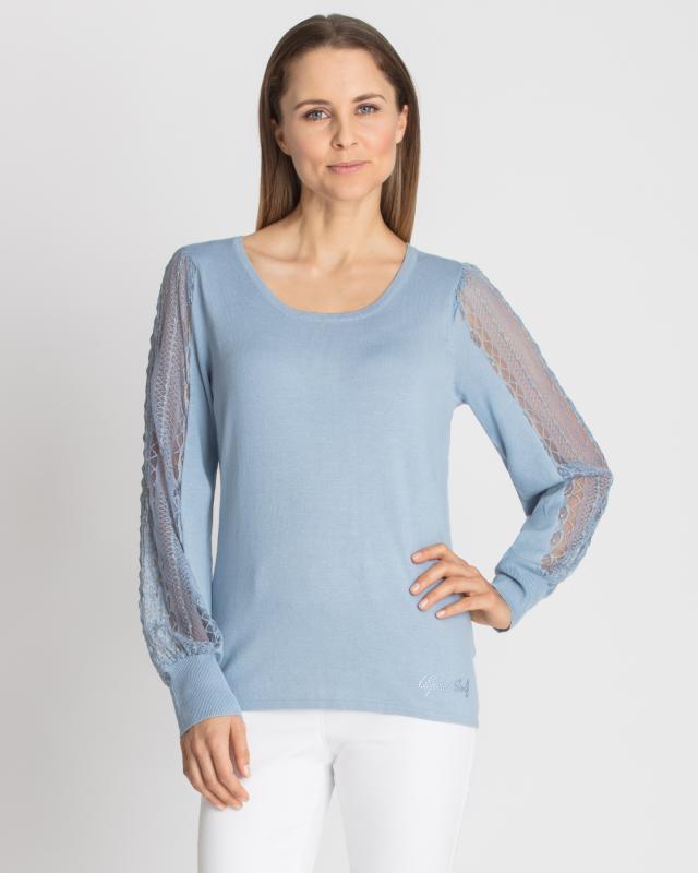 Пуловер, р. 58, цвет голубой