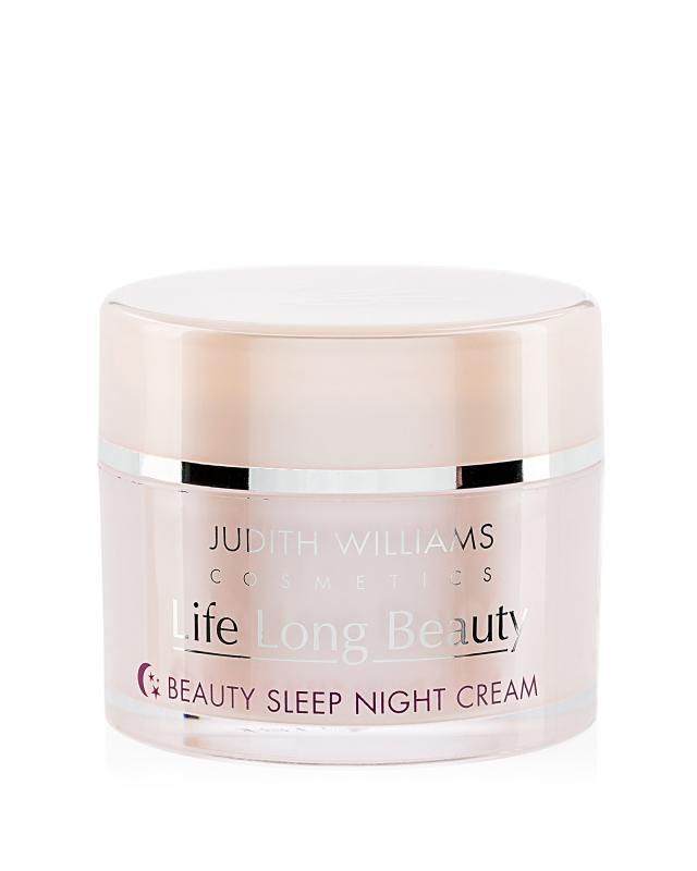 Ночной крем для лица с экстрактом малины, маслами миндаля, жожоба и авокадо Judith Williams 100 мл Life Long Beauty