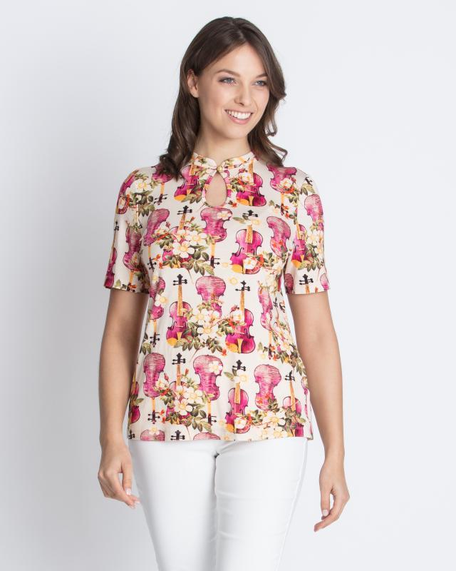 Блуза, р. 58, цвет ягодный