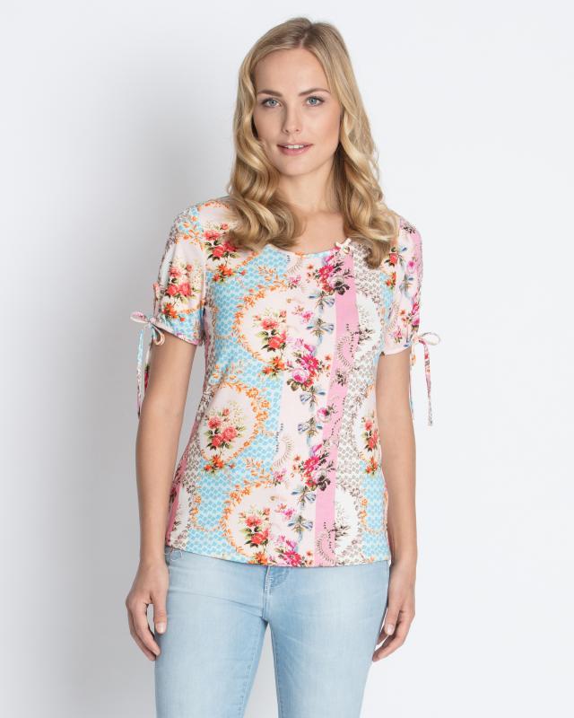 Блуза, р. 58, цвет мультиколор