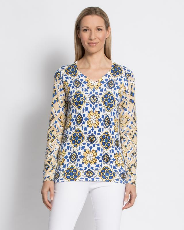 Пуловер, р. 52, цвет мультиколор