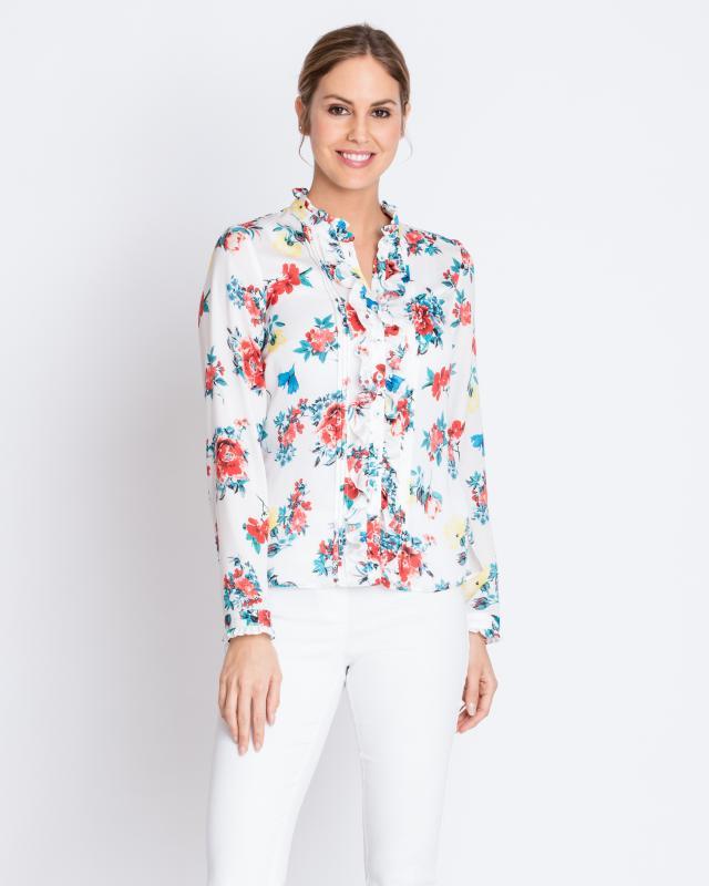 Блуза, р. 58, цвет кремовый