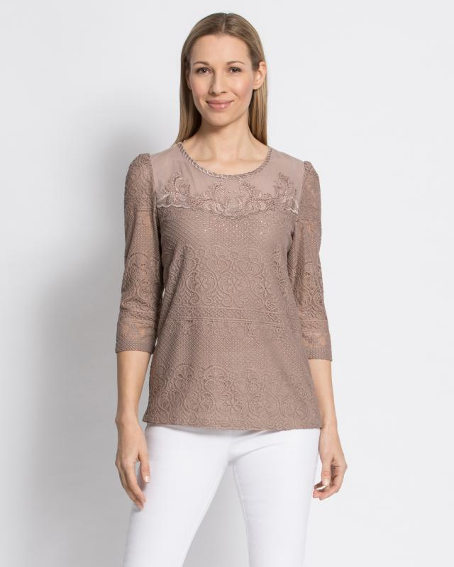 Блуза, р. 44, цвет серо-коричневый