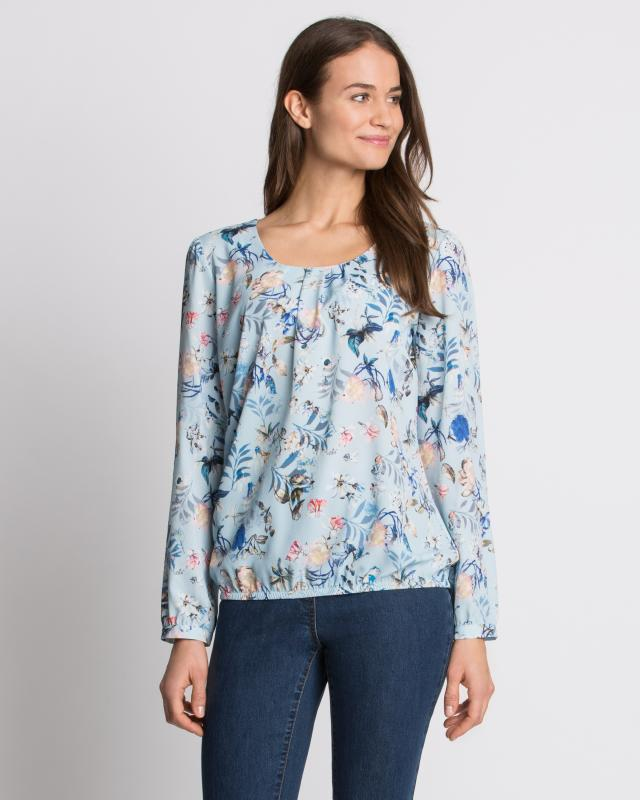 Блуза, р. 58, цвет голубой