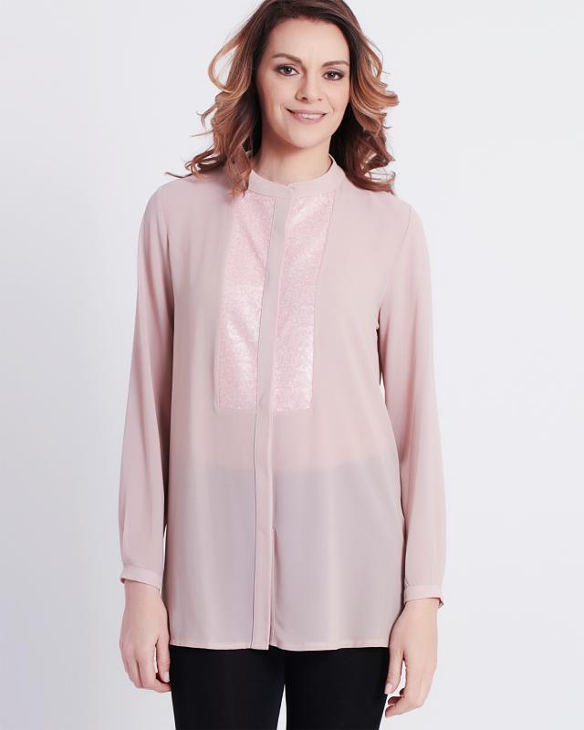 Блуза, р. 56, цвет бледно-розовый