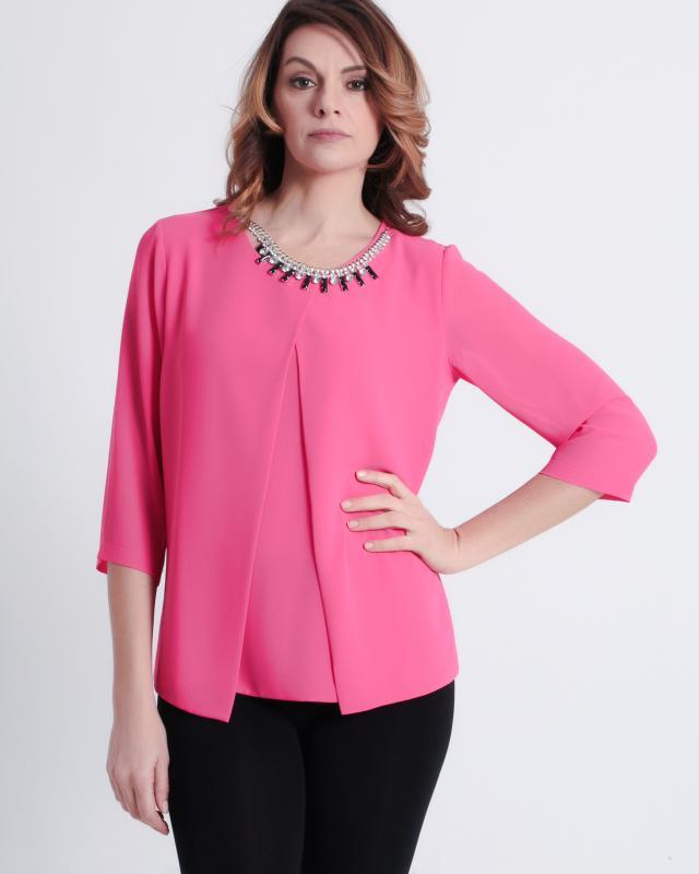 Блуза, р. 46, цвет розовый