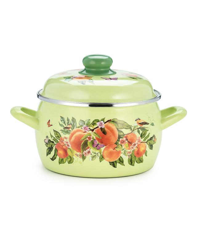Кастрюля с крышкой 3 л Metrot «Персики» фото