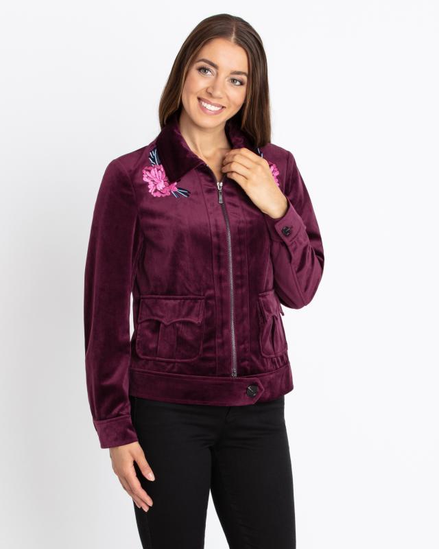 Куртка, р. 46, цвет красно-фиолетовый