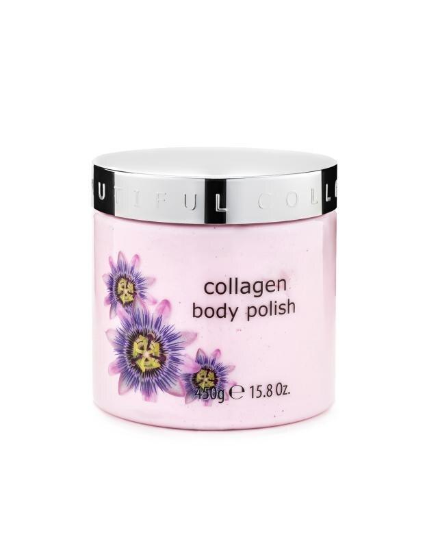 Скраб-сорбет для тела с коллагеном и маслом маракуйи 450 г SBC Collagen Body Polish фото