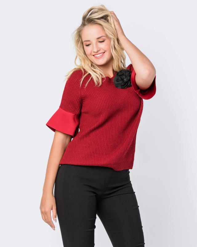 Пуловер, р. 54/56, цвет бордо
