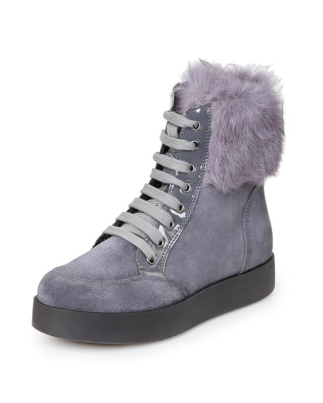 Ботинки, р. 38, цвет серый