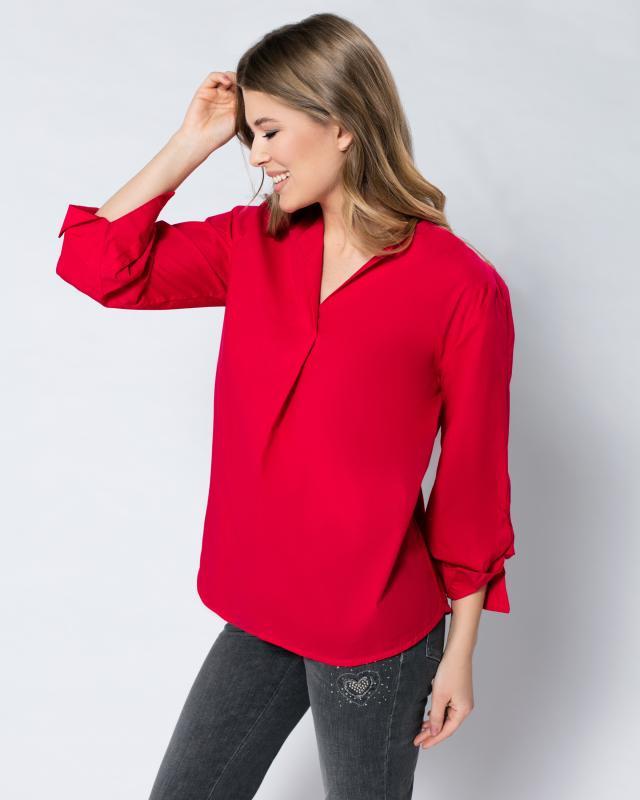 Блуза, р. 50, цвет красный