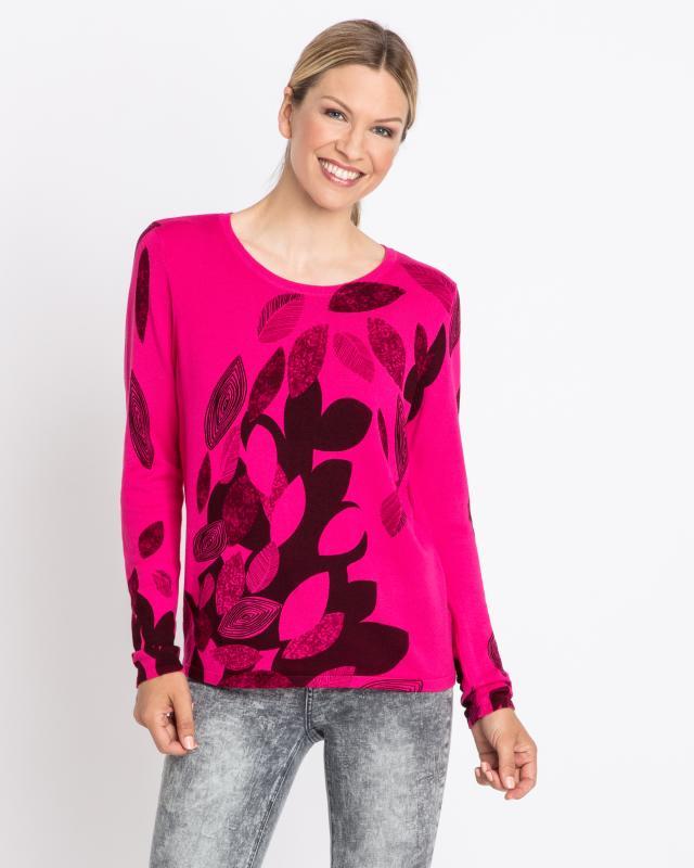 Пуловер, р. 46, цвет ярко-розовый
