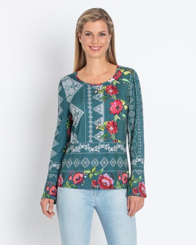 Блуза, р. 54, цвет изумруд