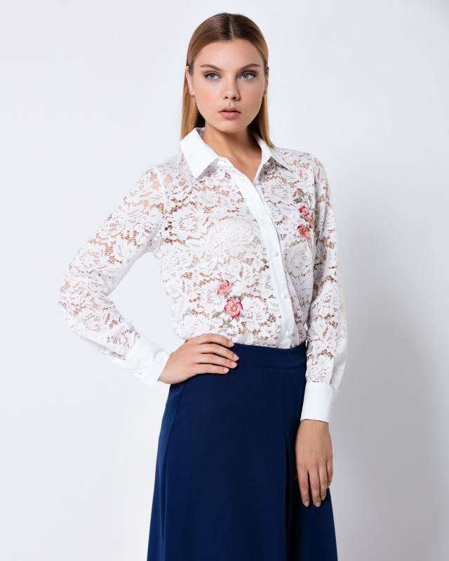 Блуза, р. 56, цвет белый