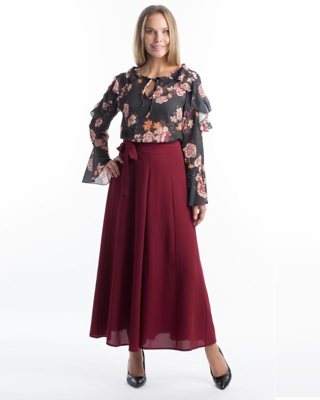 Юбка-брюки, р. 56, цвет бордовый