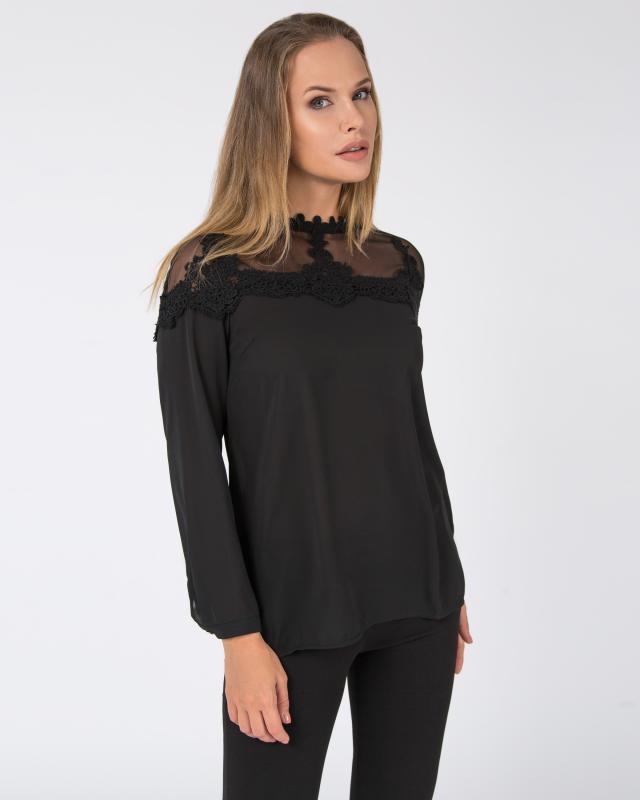 Блуза, р. 56, цвет черный