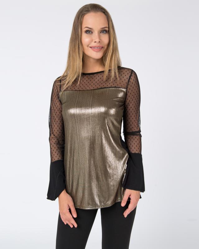 Блуза, р. 58, цвет бронзовый
