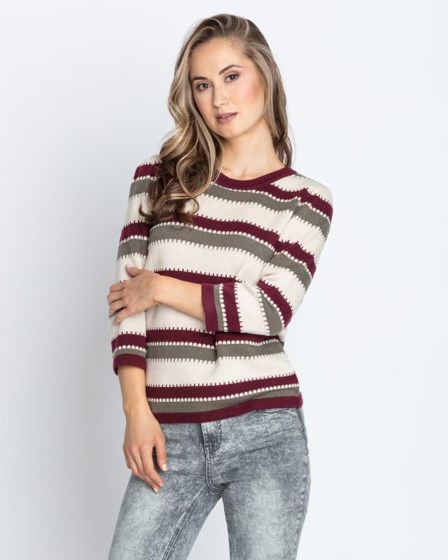Пуловер, р. 56, цвет оливковый