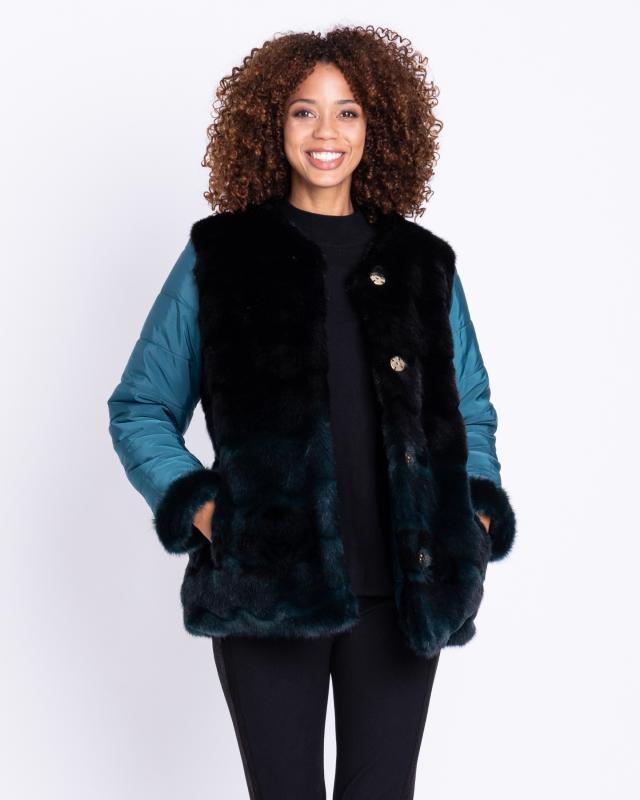 Двухсторонняя куртка, р. 48, цвет светло-зеленый