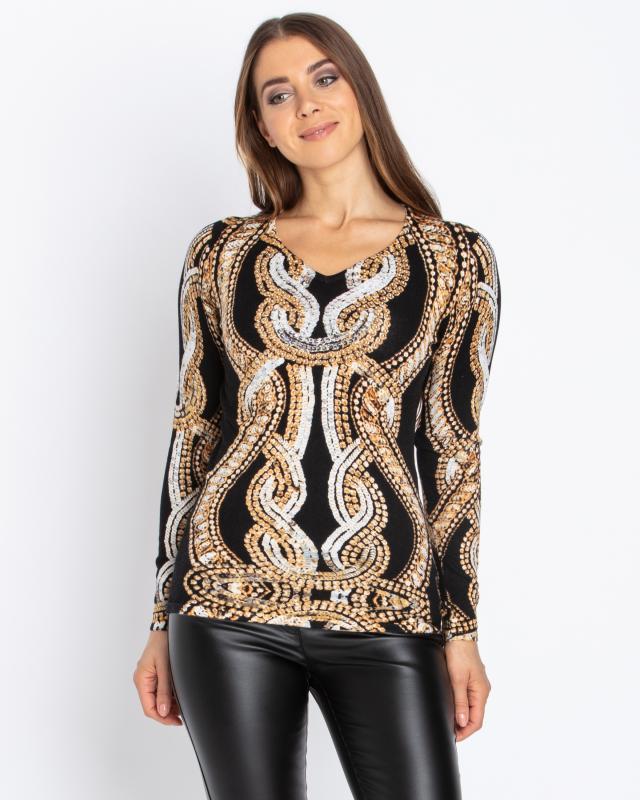Пуловер, р. 46, цвет золотой