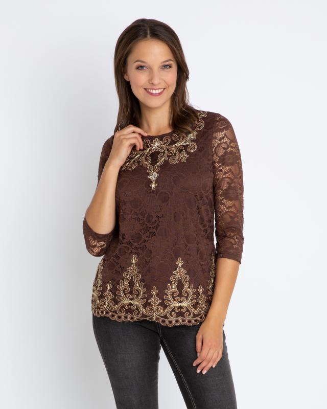 Блуза, р. 54, цвет коричневый