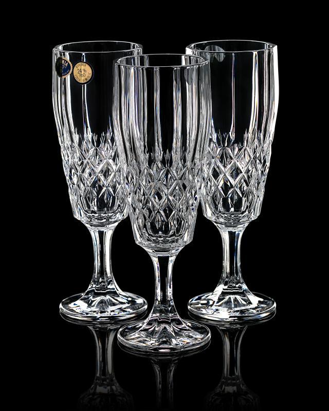 Фужеры для шампанского, 3 шт. Bohemia фото