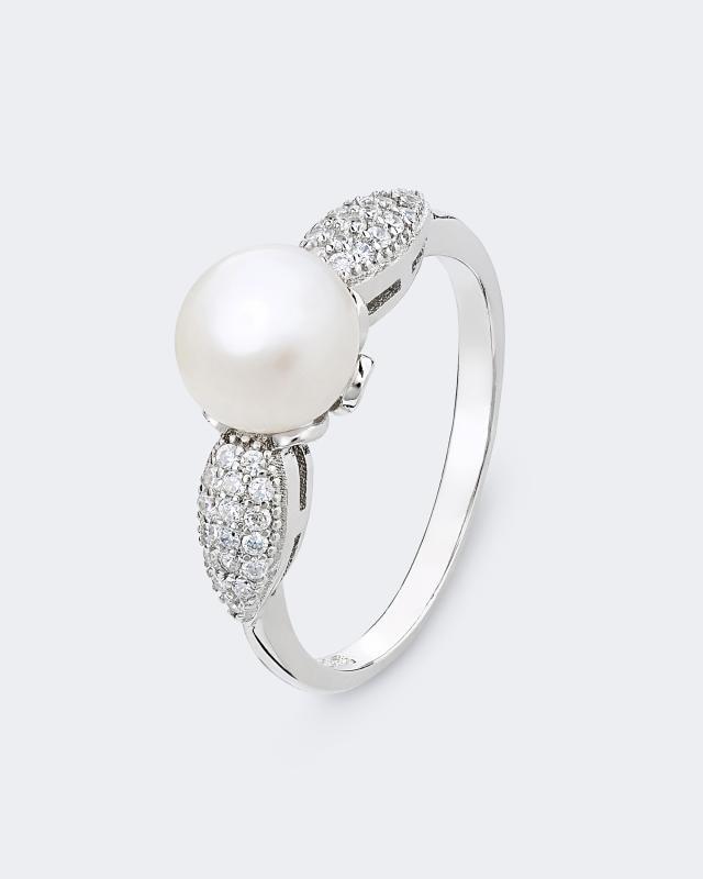 Кольцо Pearls Melody Silver Line