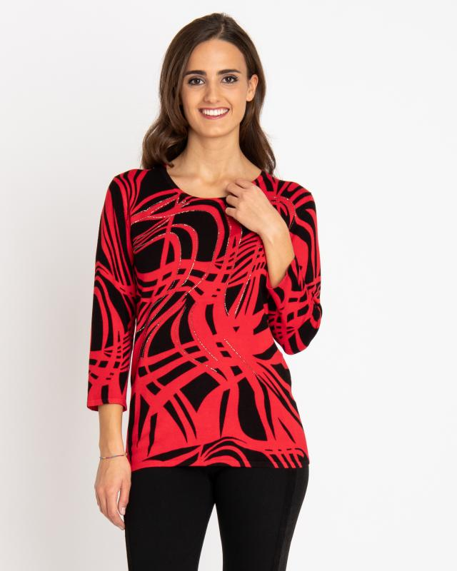 Пуловер, р. 54, цвет мак