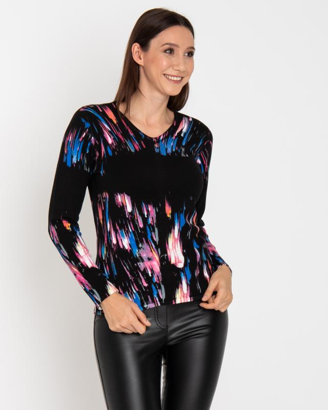 Пуловер, р. 56, цвет мультиколор