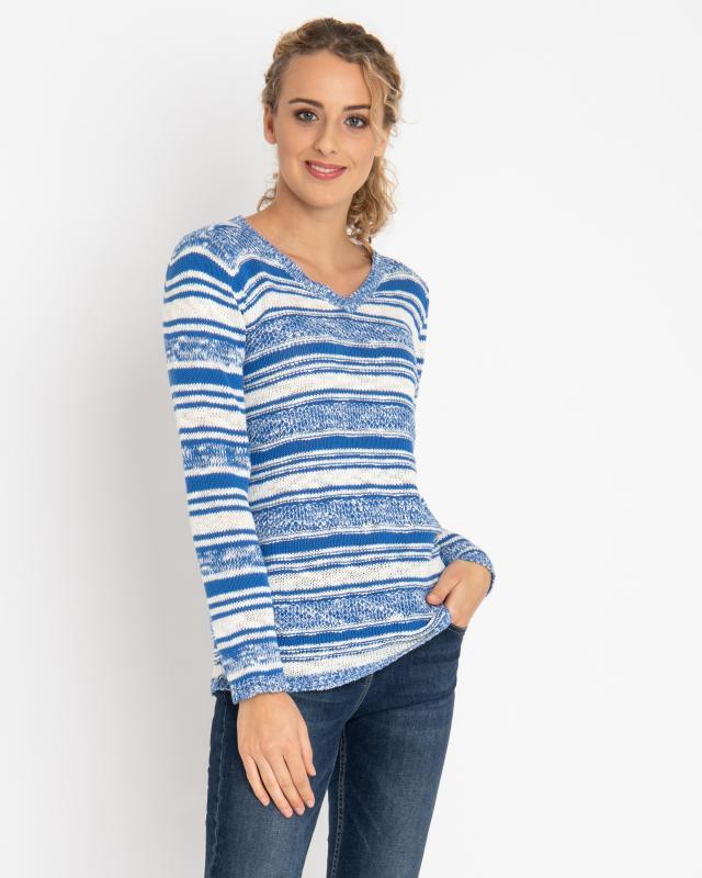 Пуловер, р. 58, цвет синий
