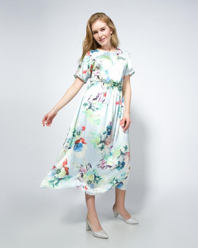 Платье, р. 54, цвет голубой