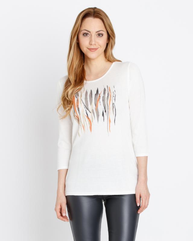 Пуловер, р. 44, цвет белый