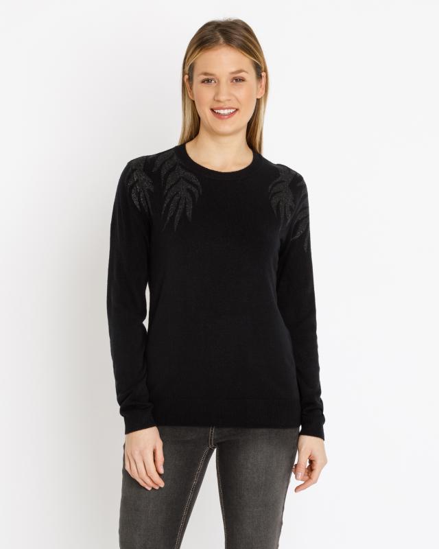 Пуловер, р. 58, цвет черный