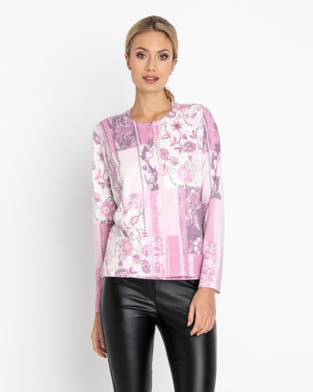 Сет: кардиган и блуза, р. 46, цвет розовый