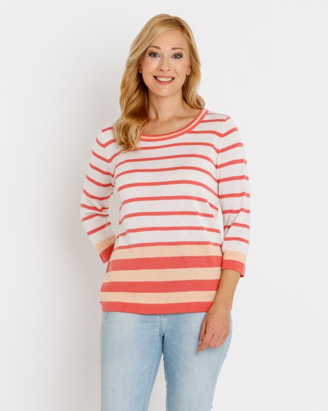Пуловер, р. 50, цвет коралловый