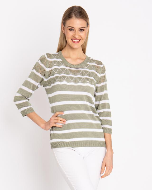 Пуловер, р. 42, цвет светло-зеленый